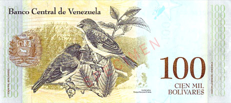 Venezuelan Bolivar is the currency with the highest inflation rate.