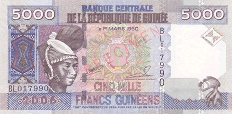 Franc de la République de Guinée.