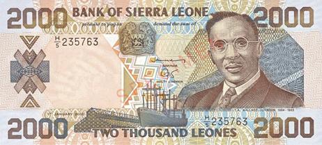 Sierra Leone Leone - Top 5 des devises bon marché.