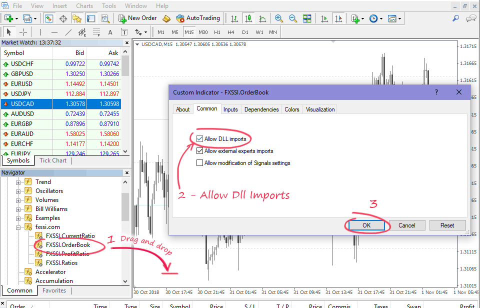 Step 5 - Run Indicator and Allow Dll