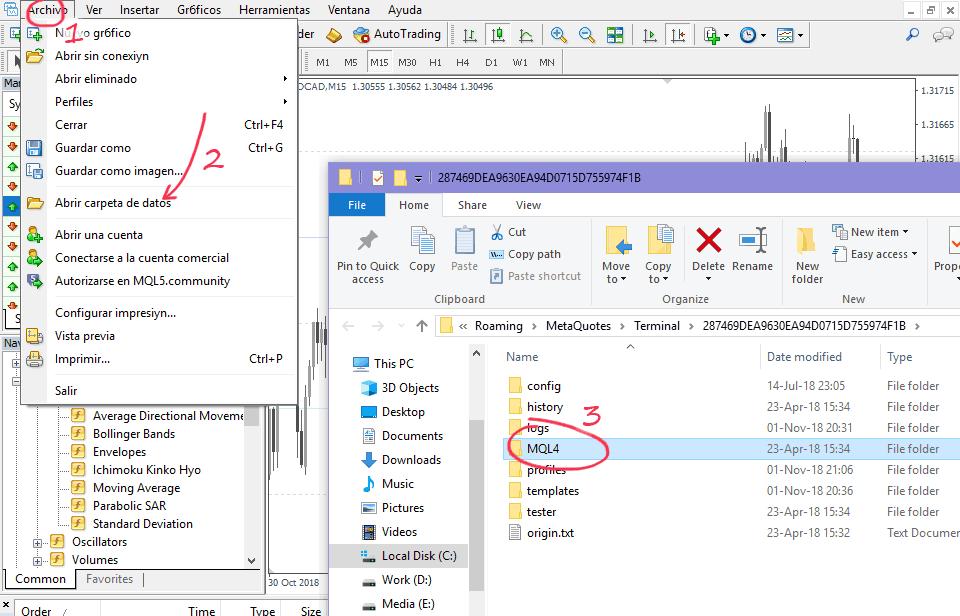 Paso 2 - Abrir la carpeta de datos