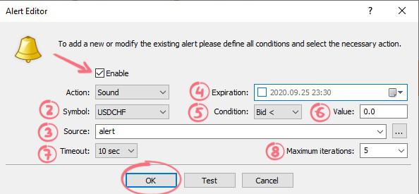 configurar alertas