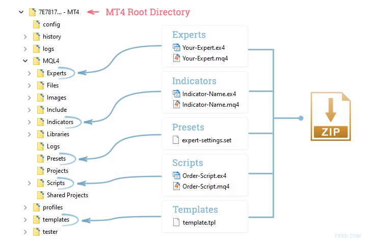 General file installation for MT4