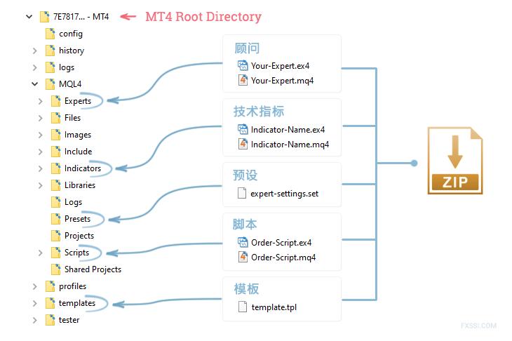 在MT4上安装普通文件