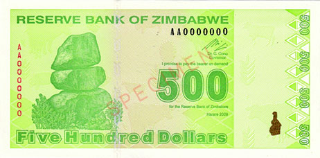 Fourth Zimbabwe Dollar